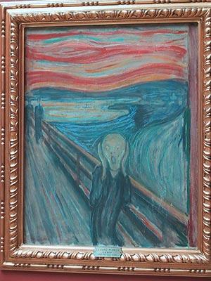 写真:ムンク「叫び」 国立美術館のページに戻る  国立美術館ムンク「叫び」
